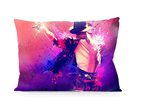 Rechzng Li Michael Jackson Pillowcase Both Sides Print Zipper Throw Pillows Covers 20x30 Inches