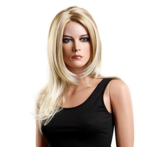 SONGMICS Perücke für Frauen, Wig für Damen, langes Haar, lockig, für Karneval, Fasching, Cosplay Party, Kostümfest, blond WFS216