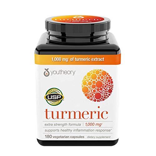 youtheory Turmeric 1,000 mg, 180 Capsules (2 Pack)