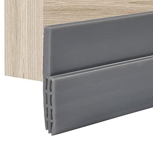 Selbstklebende Silikontür Unterer Dichtungsstreifen Silikonkautschuk-Türstreifen Selbstklebende hintere Türdichtung für Fenster- oder Türspalt 100 cm