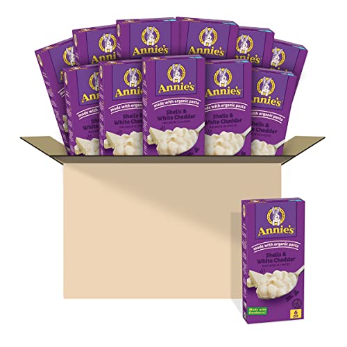 Annie's Shells and White Cheddar Macaroni and Cheese, 6 oz (Pack of 12)