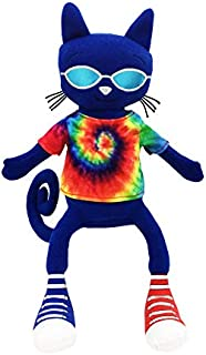 MerryMakers Pete The Cat Gets Groovy Soft Cat Stuffed Animal Plush Toy, 14-Inch, from James Dean's Pete The Cat Book Series