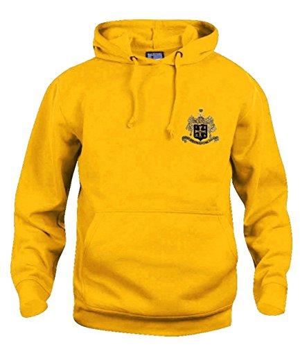 Old School Football Retro Wolverhampton Wanderers Wolves 1940's Fußball Kapuze gesticktes Logo - Gold, XLarge
