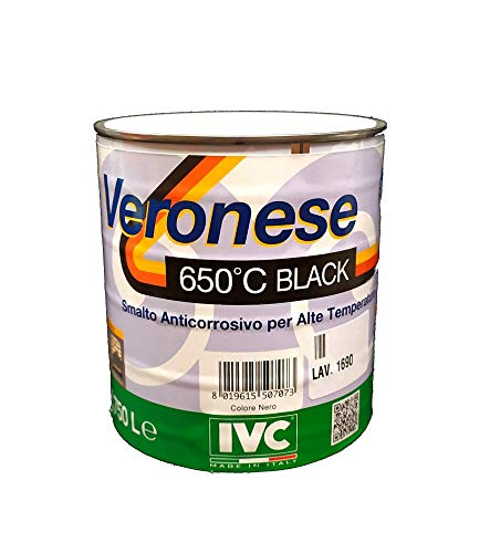IVC Smalto Anticorrosivo per Alte Temperature 650° 750 Ml Nero