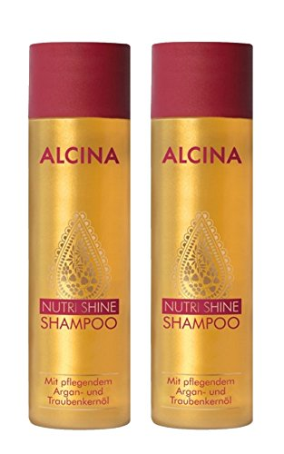 2er Alcina Nutri Shine Shampoo mit pflegendem Argan und Traubenkernöl je 250 ml = 500 ml