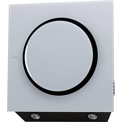 Elica Mini OM WH/F/55 Wandmontage, Weiß, 650 m³/h, Dunstabzugshaube (650 m³/h, Umluftbetrieb, 57 dB, Wandmontage, Weiß, 20 W)