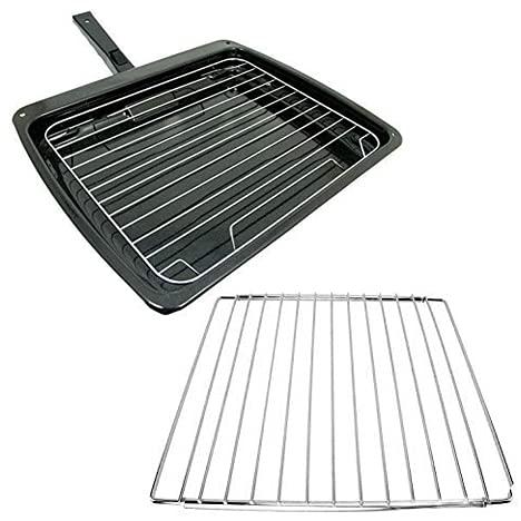 Spares2go - Sartén con asa y estante para hornos Nardi (385 mm x 320 mm) + estante extensible
