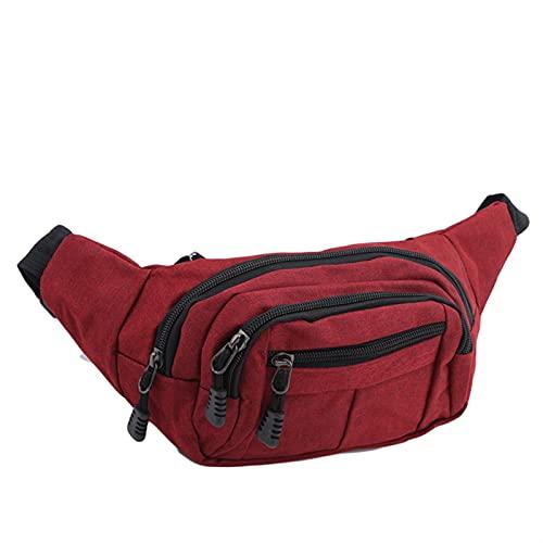 JIEERCUN Cinturón de Cadera Cinturón de Hombre Bolsa de cinturón de Mujer Bolsa de cinturón de Hombre Bolsa de cinturón de Mujer Bolsa de Billetera Bolsa de cinturón riñonera (Color : Red)