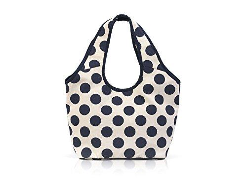 LED Universum Shopper Damen Henkeltasche - Blue Polka - Lange Henkel Schultertasche - Top-Handle Bag - für Picknick Strand Canvas - hochwertig und modisch schick