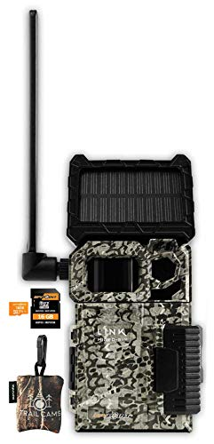 SPYPOINT Link Micro-S-LTE Solar Cellular Camera with LIT-10 Battery, Micro SD Card, and Spudz Microfiber Cloth Screen Cleaner (Link Micro-S-LTE (AT&T (Nationwide)))