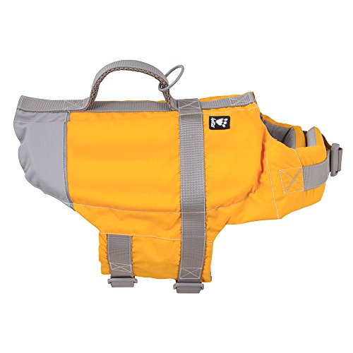 Photo of a yellow colored Hurtta Dog Life Jacket