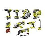 Pack RYOBI Combo 9 outils - 2 ba...