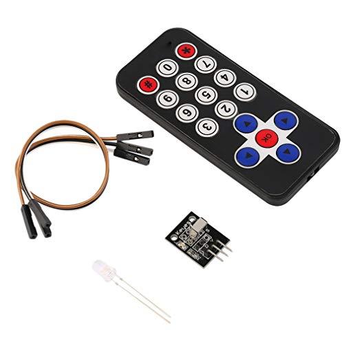 Nuevo Kit de módulo Receptor de Control Remoto inalámbrico infrarrojo IR Accesorios Negro