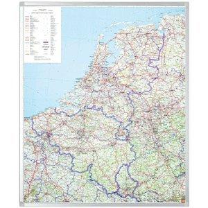 Preisvergleich Produktbild Legamaster Landkarte Professional Benelux 120x95cm magnethaftend