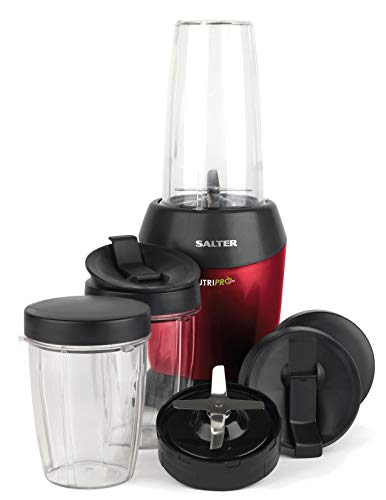 Salter, Red EK2002V2 NutriPro Super Charged Multi-Purpose Nutrient Extractor Blender, 1 Litre, 1200 W, Plastic