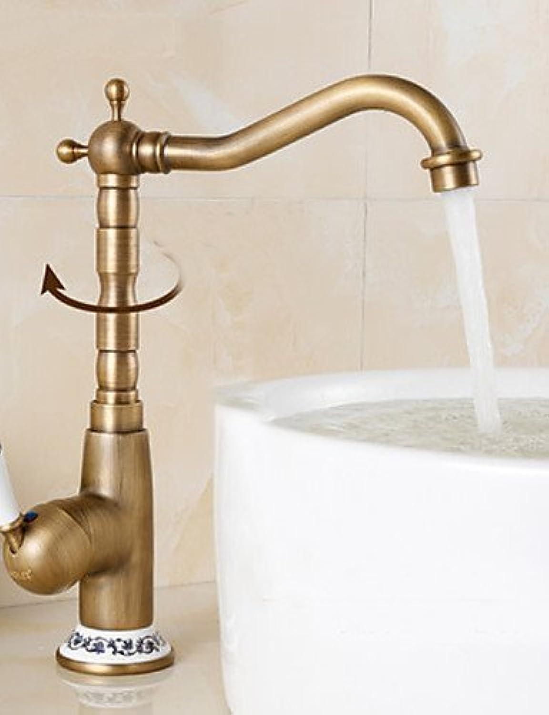 MONFS HOME Centerset Antique Brass Kitchen Faucet