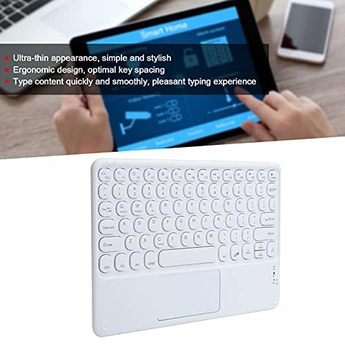 Teclado inalámbrico con Panel táctil, Mouse Bluetooth fácil de Usar y Teclado con Bluetooth para Tableta(White)