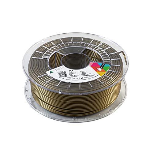 Smartfil PLA, 2.85 mm, Gold, 1000g Filamento para Impresión 3D de Smart Materials 3D