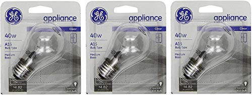 of ge video converters dec 2021 theres one clear winner GE 15206, 40-Watt, Appliance, Medium Base, A15 Bulb Shape, 3-pk, 120-Volt, 1 Count (Pack of 3), Clear