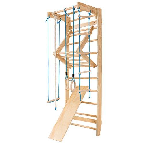 COSTWAY Sprossenwand Holz Turnwand Kletterwand inkl. Montagematerial, Heimsportgerät Klettergerüst 80x60x220cm