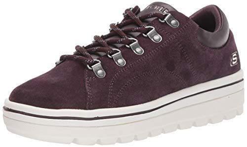 Skechers Damen Street Cleats 2 Sneaker, (Plum Suede/Duraleather Trim #Flash Plum), 5 (38 EU