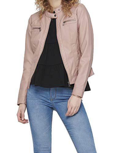 Only Onlbandit Faux Leather Biker Otw Noos Giacca in Ecopelle, Adobe Rose, 42 Donna