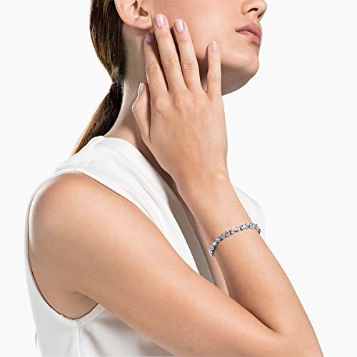 Swarovski Women's Tennis Bracelet, Brilliant White Crystals with Rhodium Plating