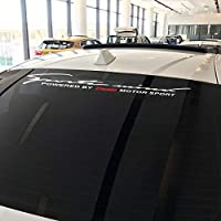 JIERS マツダデミオの場合、カートリムリアフロントガラスデカール車体装飾モータースポーツステッカースタイリングカーステッカー