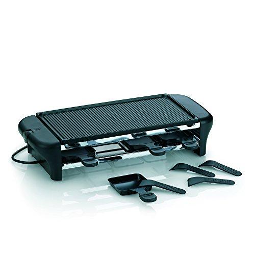 Kela 64002 Raclette mit Grillplatte, Aluguss antihaftbeschichtet, Für 8 Personen, 1000 W, 230 V, Chalet
