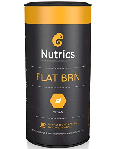 Nutrics FLATBRN 90 Kapseln I 100% Vegane Kombination I Made in Germany
