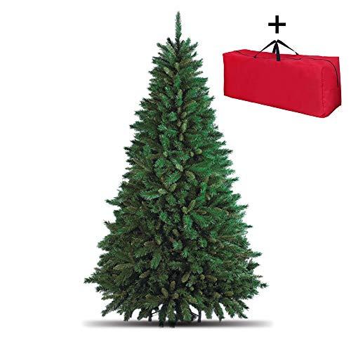 Totò Piccinni Albero di Natale Artificiale, 150 cm (438 Rami) + Borsone, FOLTO di ALTISSIMA QUALITA', Effetto Realistico, Rami a Gancio, Facile Montaggio, PVC, Base Metallica, Ignifugo