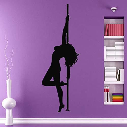 YuanMinglu Poster Pole Dancer Striptease Vinilo Pegatina Pegatina niña habitación Dance Studio Negro 30X83cm