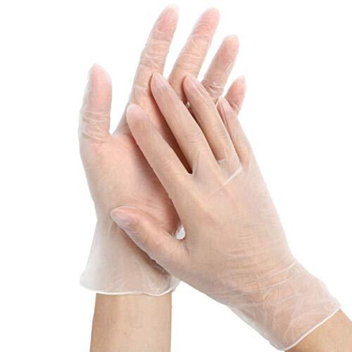 UINGKID Einweg Transparent Unsichtbare Handschuhe PVC-Handschuhe Reinigungshandschuhe 100PC Geeignet für die Reinigung der Küche und für Aktivitäten im Freien