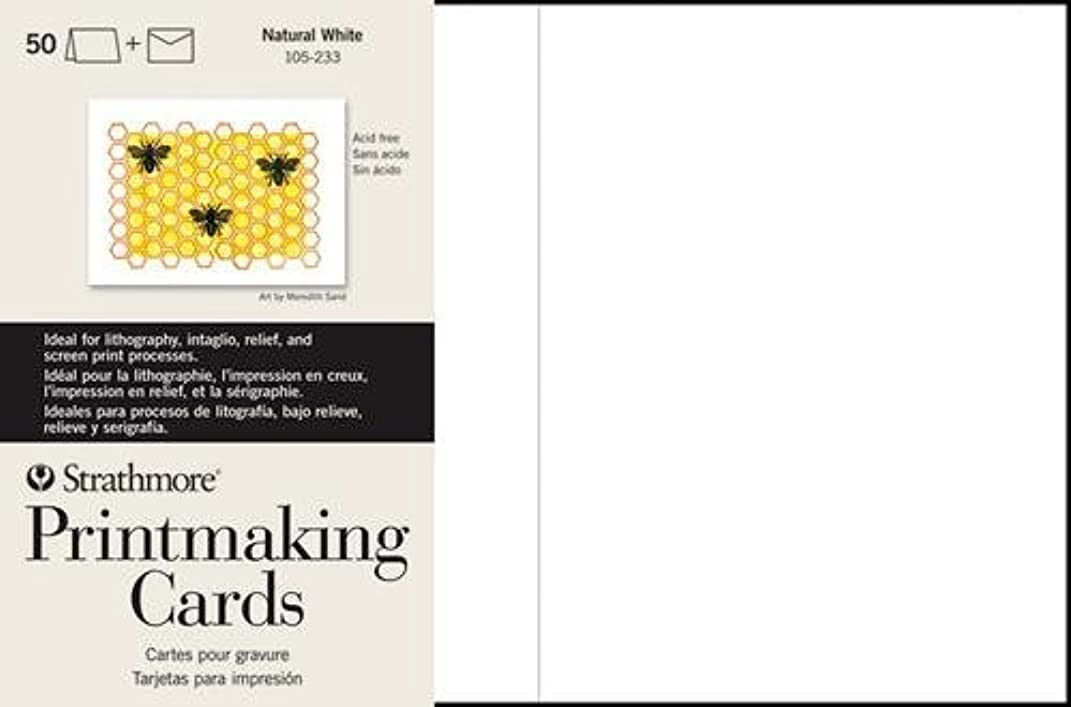 Strathmore STR-105-633 Printmaking Cards Full with Envelope (100 Pack)