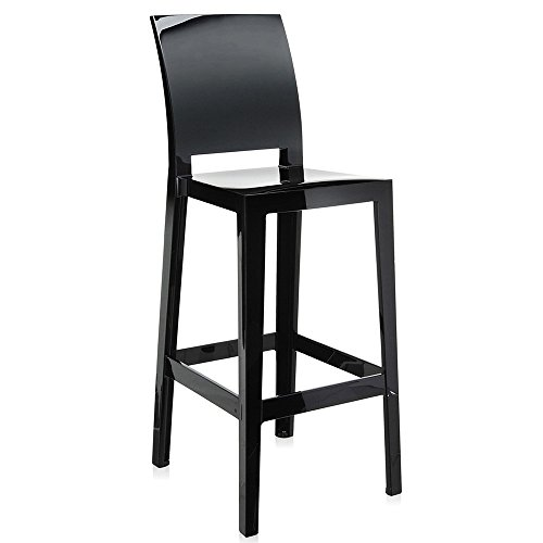Kartell 5896E6 One More Please Sgabello, Nero, 2 Pezzi