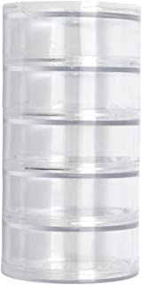 Glorex GmbH Boîte de rangement, Transparent, 7 x 3 cm