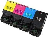 4er Set Premium Toner kompatibel für Lexmark 802H CX410de CX410dte CX410e CX510de CX510dew CX510dhe CX510dthe | Schwarz 4.000 Seiten & Color je 3.000 Seiten