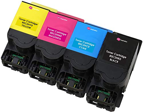 4er Set Premium Toner kompatibel für Lexmark 802H CX410de CX410dte CX410e CX510de CX510dew CX510dhe CX510dthe   Schwarz 4.000 Seiten & Color je 3.000 Seiten