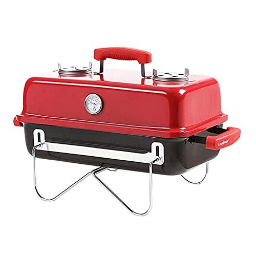 FEANG Grill Outdoor-Holzkohle-Grillgarten-Haushalts-Faltgrill-Grill-Obstgarten-Tragbare Grill-BBQ-Werkzeuge geeignet für 3-5 Personen Grillwerkzeug