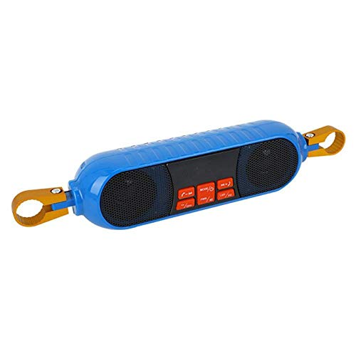 Altavoz Bluetooth portátil impermeable soporte TF tarjeta subwoofer radio moto manillar MP3 reproductor de música azul