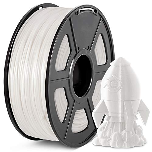 PLA Plus Filament 1.75mm, JAYO Imprimante 3D Filament PLA+, 1KG Bobine, Dimensionnelle +/- 0,02 mm, PLA+ Blanc