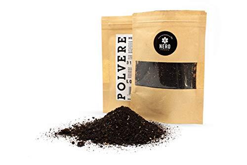 NERO FERMENTO NV Ajo Negro en Polvo elaborado con Ajo de Voghiera D.O.P. 30 gr, Made in Italy, Sin conservantes, Antioxidante, Aromatizante para todos los platos, postres, cócteles