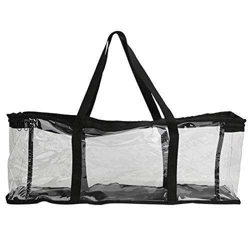 Germerse Transparente Büchertasche, robuste tragbare Tragetasche, für CD-Büchersammlung Haushaltswerkzeug Unterrichtsmaterialien Lehrer Klassenzimmer Organisation