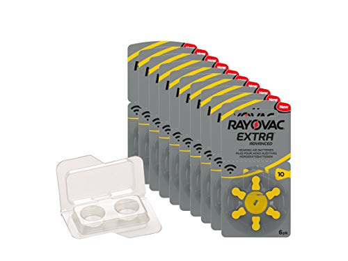 Rayovac Extra Advanced Batteries, size 10, 5 packets (30 cells)