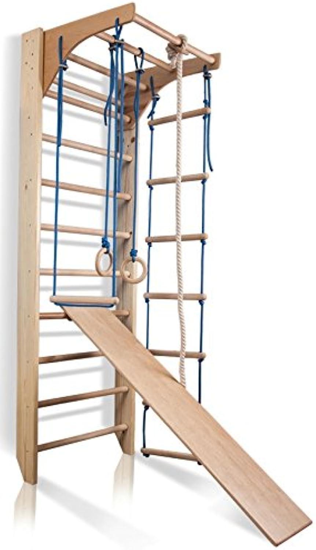 Sprossenwand Kletterwand Kombi-3-220 Turnwand Fitness Sportgert Klettergerüst Holz