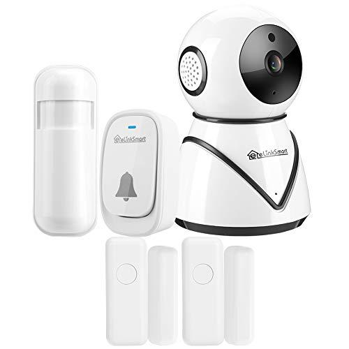 zcyg Cámara Cámara de vigilancia Cámara de Seguridad Kit DE Seguridad del HOGAR, 1080P HD WiFi Cámara DOTOR MAGNÉTICA Bell PIR PIR PIR Inteligente DE Seguridad del HOGAR para ONVIF (UE)