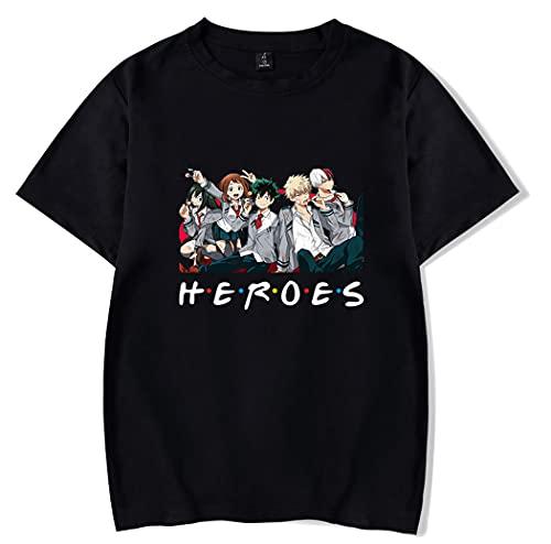 Hifoda Camiseta My Hero Academia Niño Impresión de Figura de Anime Bakugou Shoto Verano Cómodas Manga Corta (S)