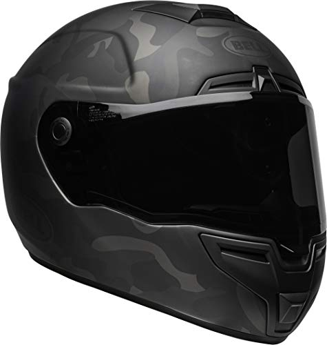 Bell SRT Street Motorcycle Helmet (Stealth Matte Black/Camo, Medium)
