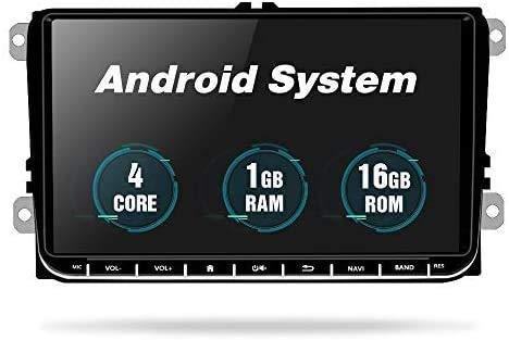 Android Autoradio für VW Passat Golf MK5 MK6 Jetta T5 EOS Polo Touran Seat Sharan,Podofo Autoradio mit 9