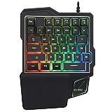 Sidougeri - Tastiera da gioco con una sola mano, mini tastiera meccanica da gaming con cavo USB, portatile, per giochi di cellulare PUBG